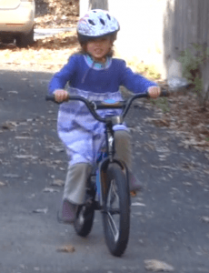 "Riding a real ""pedal bike!"""